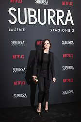 Camilla Filippi at the Red Carpet of the series Suburra 2 at Circolo Degli Illuminati in Rome, Italy, 20 February 2019 .Dress: Trussardi  (Credit Image: © Lucia Casone/Soevermedia via ZUMA Press)