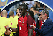 Portugal Forward Eder celebrates during the Euro 2016 final between Portugal and France at Stade de France, Saint-Denis, Paris, France on 10 July 2016. Photo by Phil Duncan.