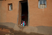 11 May 2011, Matsieng Village, near Morija, Lesotho. St. Matthews Primary School where the 4 Thipe and Malingoane boys attend school. Their grandmother recieved school uniforms for them, enabling them to attend school. Dikeledi Malingoane (6).