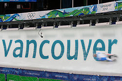Olympic Winter Games Vancouver 2010 - Olympische Winter Spiele Vancouver 2010, Luge, Rodeln, Rennrodeln, Feature, symbolic shot, Bewegung, verwischt, olympic rings, Olympische Ringe,  * Photo by Malte Christians / HOCH ZWEI / SPORTIDA.com.