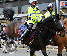 Bucking Police Horse