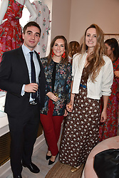 Christopher Rees, Edwina Haddon and Bryony Daniels at the launch of the Beulah Flagship store, 77 Elizabeth Street, London England. 16 May 2018.