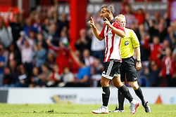 Goal, Joselu of Stoke City scores, Brentford 1-0 Stoke City - Mandatory by-line: Jason Brown/JMP - Mobile 07966 386802 25/07/2015 - SPORT - FOOTBALL - Brentford, Griffin Park - Brentford v Stoke City - Pre-Season Friendly