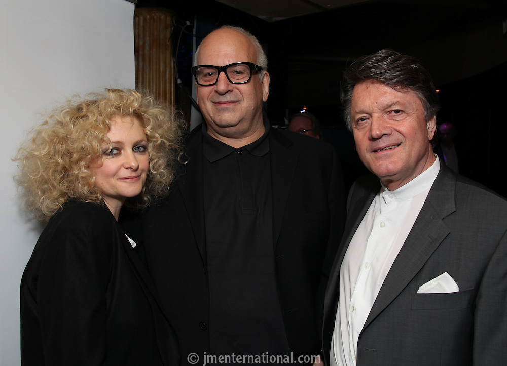 The Outstanding Contribution to UK Music Award sponsored by PPL.  winner Daniel Miller with Fran Nevkla (PPL Chairman and CEO - right and Alison Goldfrapp). The 2011 Music Producers Guild Awards<br /> Wednesday, Feb.10, 2011 (AP Photo/John Marshall JME)