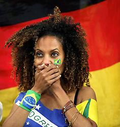 08.07.2014, Mineirao, Belo Horizonte, BRA, FIFA WM, Brasilien vs Deutschland, Halbfinale, im Bild Trauer bei den brasilianischen Zuschauern nachder hohen Niederlage // during Semi Final match between Brasil and Germany of the FIFA Worldcup Brazil 2014 at the Mineirao in Belo Horizonte, Brazil on 2014/07/08. EXPA Pictures © 2014, PhotoCredit: EXPA/ Eibner-Pressefoto/ Cezaro<br /> <br /> *****ATTENTION - OUT of GER*****