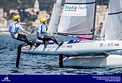 Genoa, Italy is hosting sailors for the third regatta of the 2019 Hempel World Cup Series from 15-21 April 2019. More than 700 competitors from 60 nations are racing across eight Olympic Events.©JESUS RENEDO/SAILING ENERGY/WORLD SAILING<br /> 19 April, 2019.