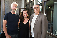 18/07/2018 repro free:  David Mach and Lyndsey Gibb with Paul Fahy GIAF artistic Director  at the world premiere of Incantata by Paul Muldoon starring Stanley Townsend and directed by Sam Yates. Incantata is a Galway International Arts Festival and Jen Coppinger production and is now on at the Town Hall Theatre, Galway until Friday July 27as part of GIAF18. Incantata is a deeply moving rollercoaster ride of a show starring one of Ireland's leading actors.  Photo:Andrew Downes, XPOSURE