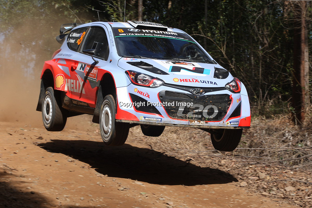 Chris Atkinson (AUS) SS1. Rally Australia - Round 10 of the FIA World Rally Championship, Day 1, 12 September 2014. Photo: Alan McDonald/www.photosport.co.nz