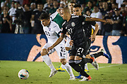 Cuba midfielder Luis Paradela (23) steals the ball from Mexico defender Luis Rodriguez (21) during a game between Mexico and Cuba in a CONCACAF Gold Cup soccer match in Pasadena, Calif., Saturday, June 15, 2019. Mexico defeated Cuba 7-0. (Ed Ruvalcaba/Image of Sport)