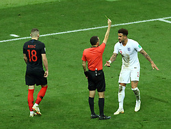 July 11, 2018 - Moscow, Russia - July 11, 2018, Moscow, FIFA World Cup 2018 Football, the playoff round. 1/2 finals of the World Cup. Football match Croatia - England at the stadium Luzhniki. Junet Chakir. Chief Justice Junet Chakir. (Credit Image: © Russian Look via ZUMA Wire)