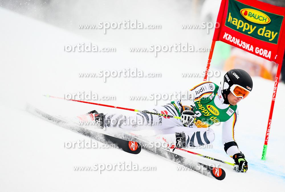 Julian Rauchfuss of Germany competes during 1st run of Men's GiantSlalom race of FIS Alpine Ski World Cup 57th Vitranc Cup 2018, on March 3, 2018 in Kranjska Gora, Slovenia. Photo by Ziga Zupan / Sportida