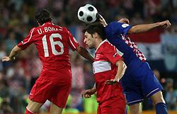Ugur Boral of Turkey vs Darijo Srna of Croatia during the UEFA EURO 2008 Quarter-Final soccer match between Croatia and Turkey at Ernst-Happel Stadium, on June 20,2008, in Wien, Austria. Turkey won after penalty shots. (Photo by Vid Ponikvar / Sportal Images)