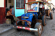 Tractor in Guanajay, Artemisa, Cuba.