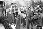 Criminal Justice Act (CJA) Protest Rally, Wanstead Common, East London, March 1994.