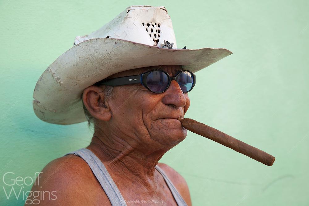 Cuban man with cigar, Trinidad, Cuba