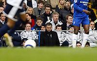 Photo: Chris Ratcliffe.<br />Chelsea v Tottenham Hotspur. The Barclays Premiership. 11/03/2006.<br />Jose Mourinho watches on.