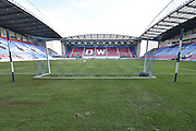 The DW stadium ready for action before  the Sky Bet League 1 match between Wigan Athletic and Oldham Athletic at the DW Stadium, Wigan, England on 13 February 2016. Photo by Mark Pollitt.
