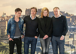 Photocall for Jonathan Teplitzkys film The Railway Man at Creative Scotland, Edinburgh. .Actors Jeremy Irvine, Colin Firth, Nicole Kidman and Stellan Skarsgard. .©Michael Schofield..