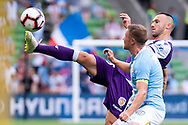 MELBOURNE, VIC - MARCH 03: Perth Glory defender Ivan Franjic (5) controls the ball at the round 21 Hyundai A-League soccer match between Melbourne City FC and Perth Glory on March 03, 2019 at AAMI Park, VIC. (Photo by Speed Media/Icon Sportswire)
