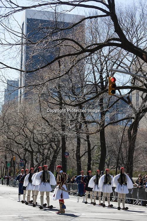New York greek parade on Fifth avenue, Greece national day/ parade grecque sur la cinquieme avenue