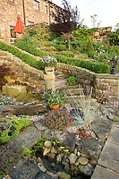 rockery and water feature