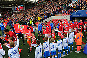 The players come out of the tunnel before the EFL Sky Bet Championship match between Bristol City and Leeds United at Ashton Gate, Bristol, England on 9 March 2019.