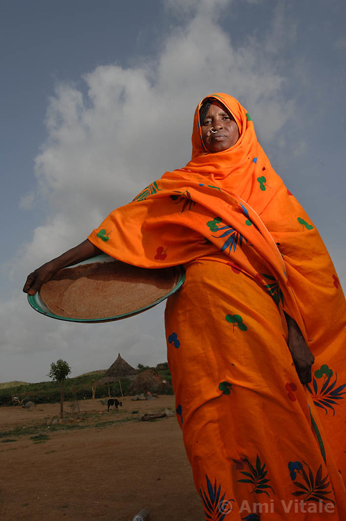 Kadija Anya, 38,  who is a traditional birth assistant, August 24, 2006 in the village of Shilabo, nearf Barentu, Eritrea.    (Photo by Ami Vitale)