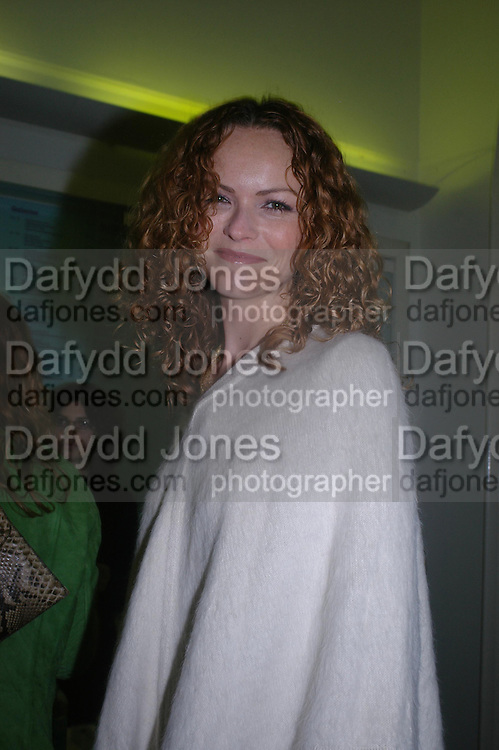 Anna-Louise Plowman. Art Plus dance fundraising party. Whitechapel gallery. 21 March 2005. ONE TIME USE ONLY - DO NOT ARCHIVE  © Copyright Photograph by Dafydd Jones 66 Stockwell Park Rd. London SW9 0DA Tel 020 7733 0108 www.dafjones.com