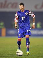 Fussball International, Nationalmannschaft   EURO 2012 Play Off, Qualifikation, Kroatien - Tuerkei       15.11.2011 Mario Mandzukic (Kroatien)