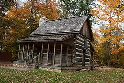 Log cabin, Battle of Corydon Park, Corydon, Indiana, United States of America