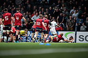 Marc ANDREU (Racing 92) scored a try during the European Rugby Champions Cup, Pool 4, Rugby Union match between Racing 92 and Munster Rugby on January 14, 2018 at U Arena stadium in Nanterre, France - Photo Stephane Allaman / ProSportsImages / DPPI