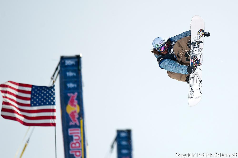 Danny Davis, USA, competes in the US Snowboarding Grand Prix Super Pipe Finals in Mammoth Lakes, Calif., Saturday, Jan. 9, 2010.