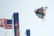 Danny Davis, USA, competes in the US Snowboarding Grand Prix Super Pipe Finals in Mammoth Lakes, Calif., Saturday, Jan. 9, 2010.