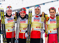 02.03.2019, Seefeld, AUT, FIS Weltmeisterschaften Ski Nordisch, Seefeld 2019, Nordische Kombination, Langlauf, Team Bewerb 4x5 km, im Bild Espen Bjoernstad (NOR), Joergen Graabak (NOR), Jan Schmid (NOR), Jarl Magnus Riiber (NOR) // Espen Bjoernstad of Norway Joergen Graabak of Norway Jan Schmid of Norway Jarl Magnus Riiber of Norway during the Cross Country Team competition 4x5 km of Nordic Combined for the FIS Nordic Ski World Championships 2019. Seefeld, Austria on 2019/03/02. EXPA Pictures © 2019, PhotoCredit: EXPA/ Stefanie Oberhauser