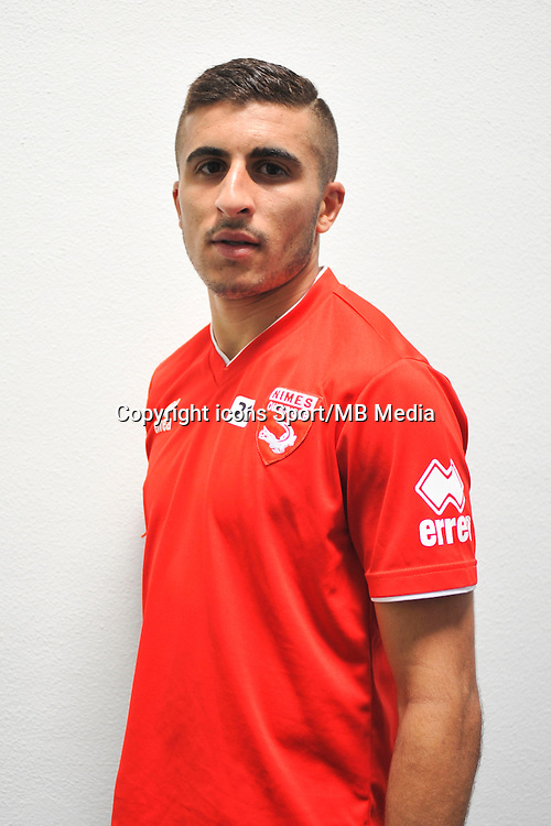 Riyad NOURI - 16.09.2014 - Photo officielle Nimes - Ligue 2 2014/2015<br /> Photo : Icon Sport
