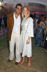 LADY GABRIELLA WINDSOR daughter of Prince & Princess Michael of Kent and her boyfriend AATISH TASEER at the Serpentine Gallery Summer party sponsored by Yves Saint Laurent held at the Serpentine Gallery, Kensington Gardens, London W2 on 11th July 2006.<br />