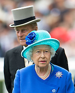 The Queen and Prince Phillip at the Royal Ascot meeting at Ascot Racecourse.