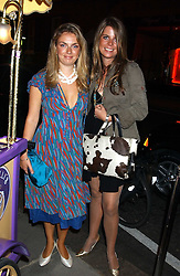 Left to right, LADY SYBILLA HART and CATHERINE LANGDON at a party to celebrate the opening of the new Lotus store at 11 Pont Street, London SW1 on 13th September 2005.<br /><br />NON EXCLUSIVE - WORLD RIGHTS