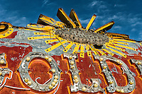 Old red and yellow sign from the Neon Boneyard, Las Vegas, NV