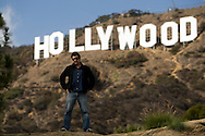 Sascha Bigler pose in front Hollywood sign in  Hollywood, California, USA, 17 October  2007.