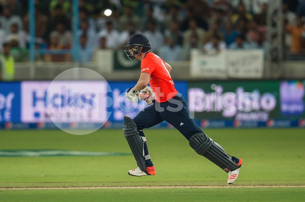 Chris Woakes of England during the 2nd International T20 Series match between Pakistan and England at Dubai International Cricket Stadium, Dubai, UAE on 27 November 2015. Photo by Grant Winter.