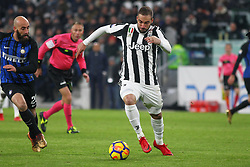 December 9, 2017 - Turin, Piedmont, Italy - Gonzalo Higuain (Juventus FC) in action during the Serie A football match between Juventus FC and FC Internazionale at Allianz Stadium on 09 December, 2017 in Turin, Italy..The final score is 0-0. (Credit Image: © Massimiliano Ferraro/NurPhoto via ZUMA Press)