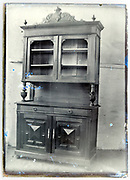 early 1900s product photo of kitchen cabinet