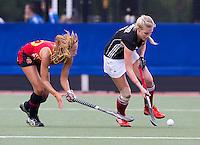 DEN BOSCH - thursday during semi final match between the women of Germany and Spain.  EC-21. PHOTO KOEN SUYK for EHF.