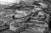 The salt pans at Maras, where salt has been mined since Incan times.