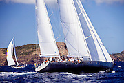 Marama sailing in the Antigua Superyacht Challenge, race four.