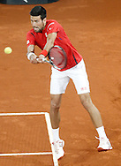 Novak Djokovic during the Madrid Open at Manzanares Park Tennis Centre, Madrid<br /> Picture by EXPA Pictures/Focus Images Ltd 07814482222<br /> 07/05/2016<br /> ***UK &amp; IRELAND ONLY***<br /> EXPA-ESP-160507-0002.jpg