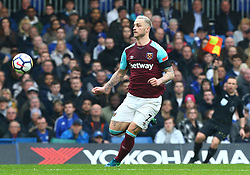 April 8, 2018 - London, England, United Kingdom - West Ham United's Marko Arnautovic.during English Premier League match between Chelsea and West Ham United at Stamford Bridge, London, England on 08 April 2018. (Credit Image: © Kieran Galvin/NurPhoto via ZUMA Press)