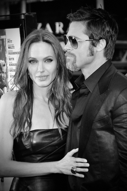"Angelina Jolie & Brad Pitt arriving at the ""Inglourious Bastards"" Premiere in Los Angeles, CA 8/10/2009."