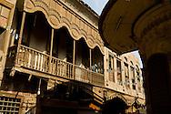 Egypt . Cairo : Wakf al Haramein wakala , caravanserail, sabil, fountain, kuttab in Khan Khalili area, islamic Cairo